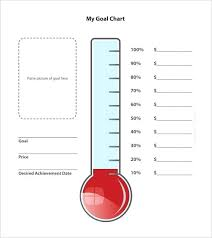 Fundraiser Tracking Spreadsheet Fundraising Goal Tracker Template Thermometer For Skincense Co