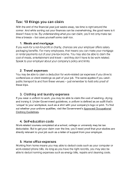 tax 10 things you can claim