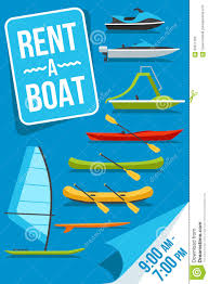 Rent Poster Boat Rent Poster Stock Vector Illustration Of Boat Scooter 66071782