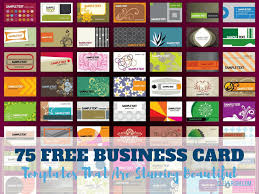 Free Card Templates 75 Free Business Card Templates That Are Stunning Beautiful