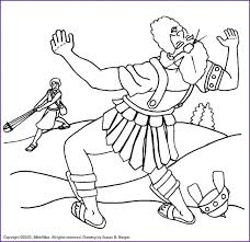 David And Goliath Coloring Page And Coloring Pages And Coloring