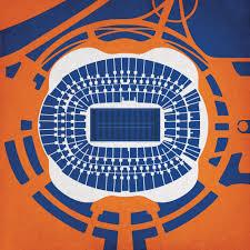 Sports Authority Field Mile High Stadium Seating Chart Sports Authority Field At Mile High Map Art