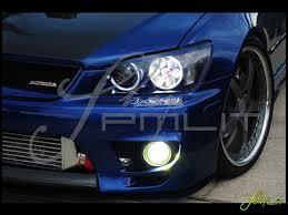 pmlit lexus is300 halo led lights automotive headlights