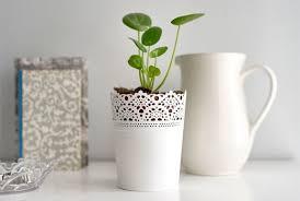 Wonderful Shop The SKURAR White Indoor Plant Pot