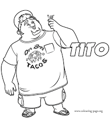 Small Picture Turbo Tito with his friend Turbo coloring page