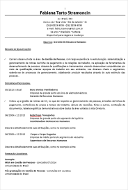 Curriculo Pronto Para Preencher Modelos De Curriculum Vitae Pronto Cv Pronto Baixar E
