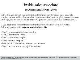 Retail Associate Cover Letter Sample Inside Sales Cover Letter Best Inside Sales Cover Letter