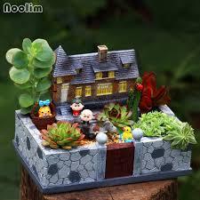 fairy garden pots. NOOLIM New Arrival Mansion Flower Pot Resin Flowerpot Succulent Plant Pots Fairy Garden Bonsai Planter Home