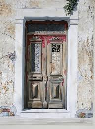 door painting old door by costis hatzioannou