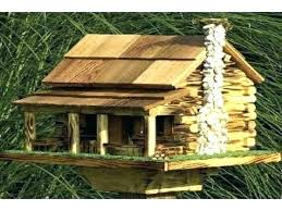 large bird houses log cabin feeder feeders plans extra squirrel proof bi