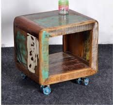 recycled wood furniture. Recycled Wood Side Table Furniture Intended