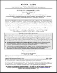 Resume Sample For A Ceo