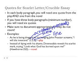 how to write a literary essay ppt  quotes for scarlet letter crucible essay