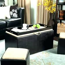 oversized ottoman coffee table tray round storage