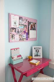 Pink and Aqua Blue Preteen Girls Bedroom