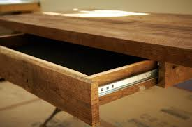 reclaimed wood office desk. make desk drawer optional reclaimed wood office