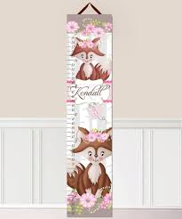 Woodland Growth Chart Forest Growth Chart For Girls