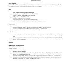 Preschool Teacher Resume Preschool Resume Preschool Teacher Job ...