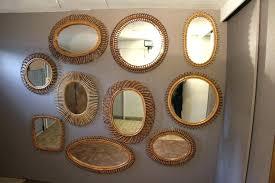 rattan wall art wall mirrors mirror wall decor set of 3 wall mirror set of 3 rattan wall art