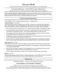 Manager Resume Sample Awesome Assistant Manager Resume Sample Monster