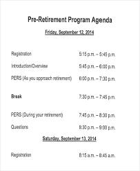 Banquet Program Examples 7 Retirement Program Samples Templates In Pdf