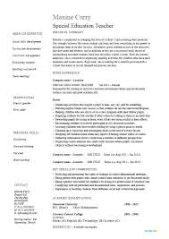 Examples Of Education Resumes Example Of Teaching Resumes Elementary Sample Resume For Early