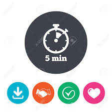 Download Timer Timer Sign Icon 5 Minutes Stopwatch Symbol Download Arrow