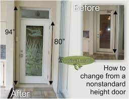 non standard height door solution