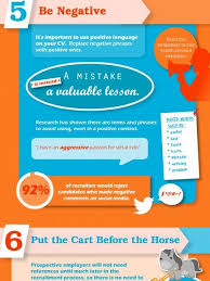 Ten Things Not To Put On Your Cv Infographic Career Guidance