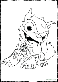 Skylanders Coloring Page Giants Free Pages S Color Hot Dog Fresh
