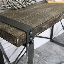 industrial style wooden desk side table