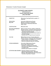 Student Teacher Resume Samples Classy Resume Objectives For Any Position Dewdrops