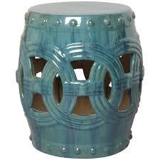 turquoise garden stool. Interesting Garden Linked Fortune Garden Stool  Turquoise For I
