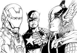 The Avengers Da Colorare Org Con Disegni Avengers Da Colorare Per