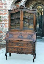 antique drop front secretary desk with bookcase antique drop front secretary desk with bookcase antique french antique drop front secretary desk