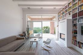 Minimalist Interior Design Books Minimalist House With A Long Wall Of Books Idesignarch