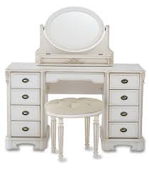 List Of Living Room Furniture Retro White Wooden Polished Vanity Mirrored Desk With Drawers