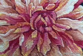 wool hooked rugs primitive hand sandy designs painted dahlia wool hooked rug