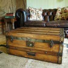 Steamer Trunk Furniture Vintage Steamer Trunk Table Antique Victorian Travel Trunk Storage
