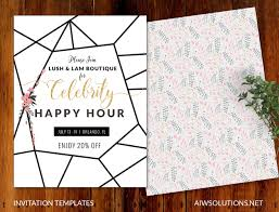 invitations event template save the date template flyer template invitation template happy hour template