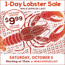 One Day Lobster Sale Event Family Fare