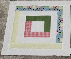 Pretty Pastels Log Cabin Baby Quilt | FaveQuilts.com & Pretty Pastels Log Cabin Quilt Block Adamdwight.com