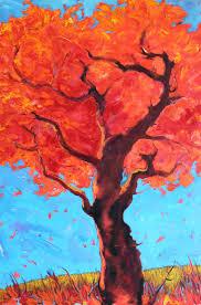 saatchi art artist svetlozar zahariev zar painting red tree abstract nature
