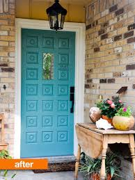 Turquoise front door Bright 528f337a270f9b180898b46cf96b473aed479679 Apartment Therapy Before amp After Turquoise Front Door Apartment Therapy