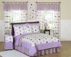 image of kids queen bed set purple
