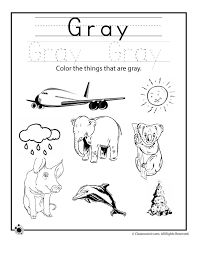 More than 5.000 printable coloring sheets. Color Gray Worksheet Woo Jr Kids Activities