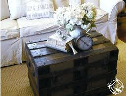 vintage trunk coffee tables architecture love the idea antique steamer trunk used as a coffee within