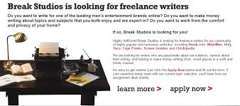 are you a lance writer check these sites that pay you to write 19 break studios