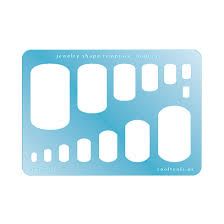 Tag Shape Template Jewelry Shape Template Dog Tag Cool Tools