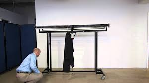 Folding Coat Rack Portable IndustrialStrength Folding Coat Rack by Versare YouTube 43